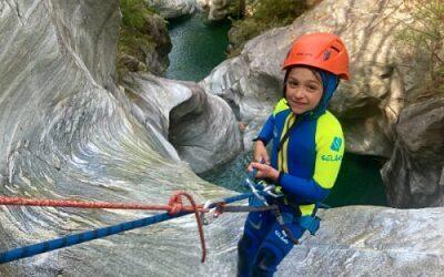 activités de plein air aventures familiales canyoning