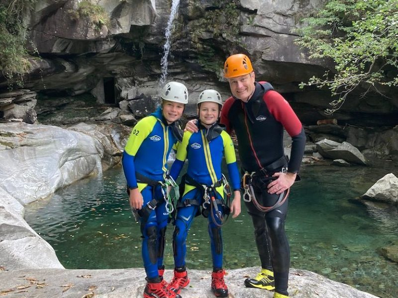 famille canyoning père fils